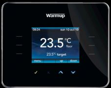 Warmup 3ie Digital Touchscreen Thermostat Black